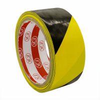 PVC地板胶带黑黄警示语胶带厂家批发
