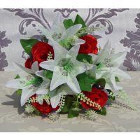 欧式高等装饰花 仿真花 假花12头石榴蕾小百合 家居婚庆用品