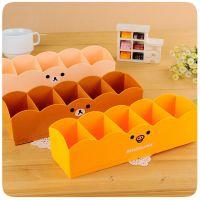 日式轻松熊抽屉5格卡通收纳盒 桌面整理盒 杂物盒 袜子文具收纳盒