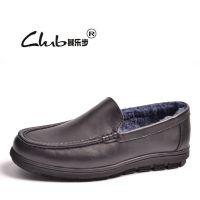 2016春季新款品牌男鞋 真皮羊毛保暖棉鞋 广州外贸男士休闲鞋