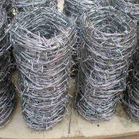 厂家直销海南双股镀锌篱笆刺绳:果园防盗刺绳,水产养殖防盗刺绳