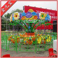 十人座旋转飞椅游乐设备百花乐园造型新颖华丽大方的游乐设备百花乐园