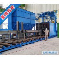 钢材钢构进口通过式抛丸机,山西太原晋城大同抛丸机厂家|东久机械