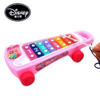 迪士尼正版授权 儿童音乐彩色 早教益智玩具 八音阶可拖拉敲琴