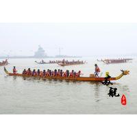国际标准龙舟 22人木质比赛专用龙舟 玻璃钢龙舟 端午赛龙舟木船