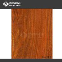 高端304不锈钢转印金丝楠木 门板金属制品材料