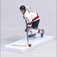 冰球运动员仿真人物 树脂卡通人物玩具模型 冰球运动员纪念礼品