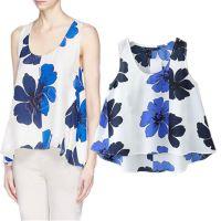 2015春夏新款欧洲站ZA青花瓷印花无袖背心 打底衫  GL118