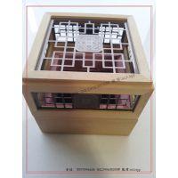 熏香盒 镂空木盒 镂空桃花心木盒 桃花芯木包装盒 榉木盒厂家生产