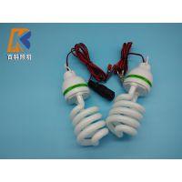 百科12V 48V低压交流直流螺旋节能灯30W 夜市电瓶车使用