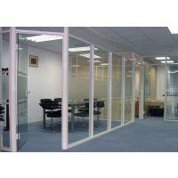 武汉汉斯隔断厂家定制办公室隔墙 玻璃隔墙 双层玻璃带百叶隔断 钢化玻璃隔断