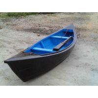 手工定制欧式尖头木船,手划木船,观光船