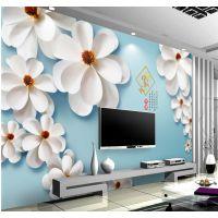 长沙景灿大型定制无缝整张壁画 3D清新花卉无纺布壁纸 客厅卧室沙发电视背景墙纸