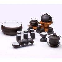 高档商务礼品陶瓷 功夫套装,紫砂茶具套装,高档赠品
