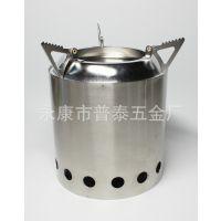 不锈钢柴火炉 木煤炉 一体式烧烤炉 野营炉具