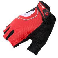 原单GIANT捷安特山地自行车夏季骑行半指手套越野减震运动手套 红