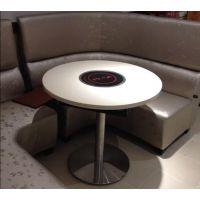 厂家直销韩式烧烤桌自助烤涮一体桌子石英石电磁炉火锅桌椅可来图订做