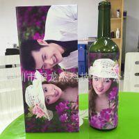 酒瓶图案打印机 高档红酒礼品盒打印机