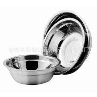 厨房用品 不锈钢餐具 不锈钢无磁三件套汤盆