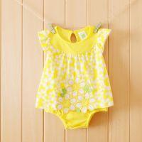 婴儿服装免费代理夏装哈衣纯棉外贸连体衣连身衣爬服0214一件代发