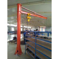 柱式旋臂起重机是CD1、MD1型电动葫芦及手拉葫芦配套使用的一种小型起重机械。葫芦沿工字钢作直线运动