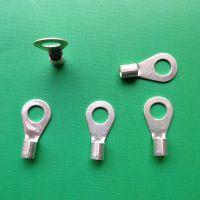 OT4-6 冷压端子 接线鼻 线耳 圆形裸端头 不带护套 紫铜镀银焊口