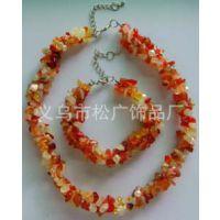 彩色石头项链 大理石碎石项链 韩式女式项链 服装配饰项链