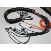 供应拖链电缆组件、机器人拖拉电缆组件、坦克链电缆组件