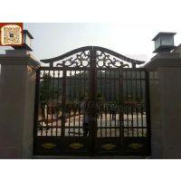 别墅门图片高度 中式欧式美式别墅门 铸铝实心大门