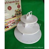 盒装出口塑料三层棒棒糖蛋糕架 Cake Pop&Cupcake Stand 烘培工具
