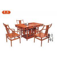 罗马茶桌东阳鲁创厂家直销老红木红木家具价格、成套家具批发、古典家具款式图片