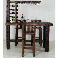船木古典中式纯实木家用酒柜吧台桌椅组合玄关隔断老船木现代住宅家具