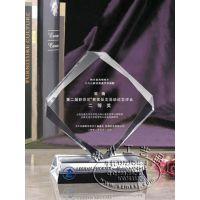 优秀文稿作品奖杯,菱形水晶奖杯,纪念颁奖奖杯,长沙水晶奖杯