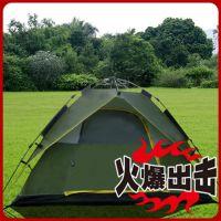 户外野营自动帐篷玻璃纤维杆双人双层帐篷防晒防雨高档折叠帐篷