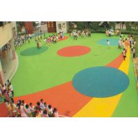供应宝鸡铜川固原市安康市学校塑胶运动场跑道幼儿园塑胶地面EPDM彩色塑胶颗粒硅PU塑胶球场
