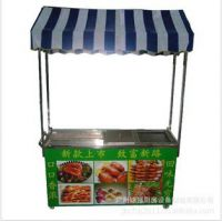 供应锦邦品牌三功能烧烤车/多功能小吃车/小吃休闲设备/小吃小推