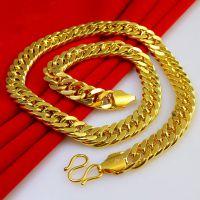 厂家直销 欧美男士项链 马鞭链 仿真黄金项链 外贸出口金项链