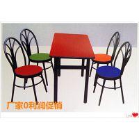 河北厂家直销优质快餐桌椅 学校食堂餐厅长条桌 钢木家具