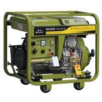 军绿色 部队用 5KW 电启动柴油发电机组DG6000E