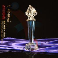 精兴工艺 马头奖杯 年度水晶纪念品 会议专用奖杯 广州省包邮