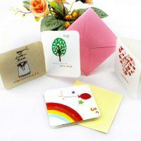 创意韩版情人节立体贺卡生日卡小卡片留言卡小信封diy贺卡168张入
