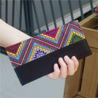 阿布卜民族风包包原创刺绣2折女钱夹钱包零钱包新款2014厂家直供