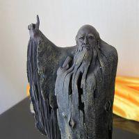 老子问天陶瓷工艺品摆件特大号古董精致收藏品