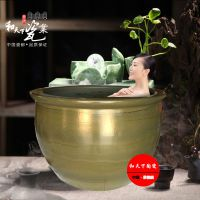 日本极乐汤澡堂洗浴大缸 日式陶瓷洗淋泡澡大缸青瓦台洗浴大缸