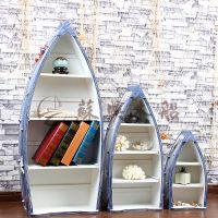 1.15米精品木质船型书柜 儿童房装饰木船 船型景观装饰摆件 颜色可选配