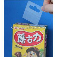 广州厂家直销尺寸40*50mm透明粘勾彩盒挂钩PP挂牌