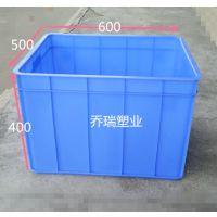 PE特大号加厚塑料强度高周转筐透气性佳收纳箱服装周转箱物流箱
