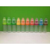 PET10ML透明瓶烟油瓶眼药水瓶大量供应有现货彩色盖多色盖双保险盖儿童安全盖防盗盖