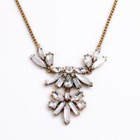 小额混批欧美时尚大牌饰品批发 奢华镶钻花朵女式项链速卖通货源