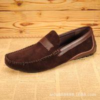 厂家直销新款男士真皮豆豆鞋 百搭套脚懒人皮鞋 休闲男单鞋批发
